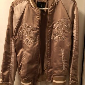 Forever 21 Gold Embroidered Jacket